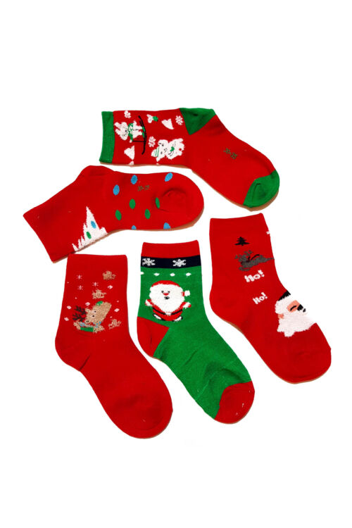 Sosete Kids Red Christmas 01