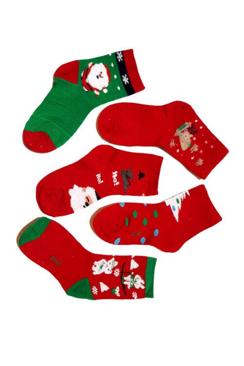 Sosete Kids Red Christmas 02